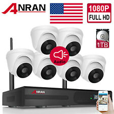 ANRAN Wifi Outdoor 1080P Wireless Security Camera System CCTV 8CH NVR HDMI 1TB
