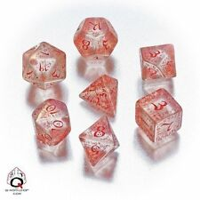 Q-Workshop Elven RPG Dice Set (7 Polyhedral) Transparent Red SELV09