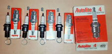 NEW Made in USA NOS Set of 4 pack Autolite 403 Resistor Spark Plug - R43N / RN4C