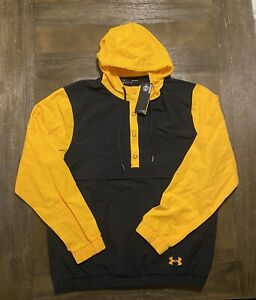 Under Armour Storm Anorak Hooded Jacket Yellow Mens Sz M NEW*