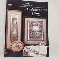 Gardens of the Heart Cross Stitch Pattern Leaflet 15 RainDrop Flowers Bunnies