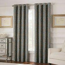 """Valeron Belvedere 84"""" Grommet Top Room-Darkening Window Curtain Panel in Blue"""