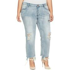 William Rast Womens My Ex's Blue Destroyed Ankle Jeans Plus 20W BHFO 3514