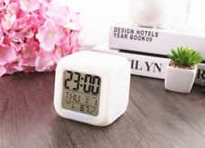 Portable Electrical Alarm Clock Multi-functions of Date Temperature LED illumine
