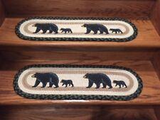 Mama Bear & Baby Bear Print Braided Stair Tread by Earth Rugs