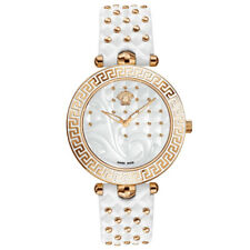Versace VK751 0017 Vanitas white Leather rose gold Women's Watch NEW