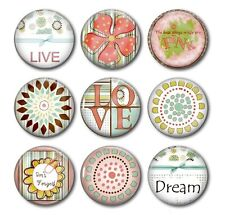 LOVE, DREAM, LIVE - Beautiful Words To Live By!, 9 Magnet Set in Gift Tin