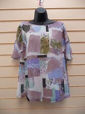 LADIES TOP MULTI SIZE 10 SUMMER TOGETHER PRINT DETAIL LIGHTWEIGHT BNWT