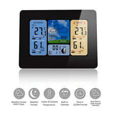 Wireless Weather Station LCD Thermometer Barometer Indoor Outdoor Humidity Colck