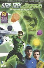 2015 SDCC Star Trek Green Lantern #1 A & B Connecting Variant Cover set! 3000