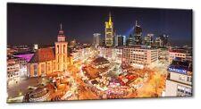 Leinwand Frankfurt Zeil Hauptwache Weihnachstmarkt Panorama Nacht Skyline