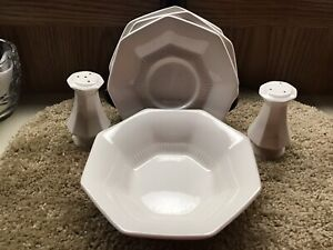 NIKKO Classic Collection white octagonal replacements for dish set, pre-owned