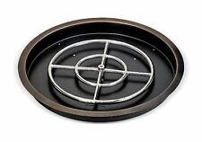 """19"""" American Fireglass Stainless Steel Bronze Round Drop-In Fire Pit Pan"""