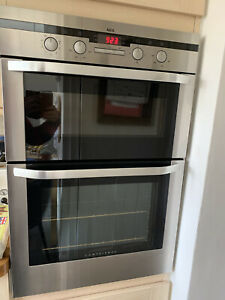 AEG Electrolux Competence Double Electric Fan Oven Grill Stainless Steel D4101-4
