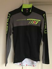 CASTELLI VELOCISSIMO 2 Men's L/S Bike Jersey BLACK GRAY YELLOW Large $119.99
