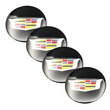 """4pcs 56mm 2.22"""" Black Wheel Center Hub Caps Emblem Sticker for Cadillac ATS CTS"""