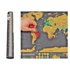 Carte du Monde à Gratter 42 x 30 cm Voyage Mural Affiche Scratch Map Wall