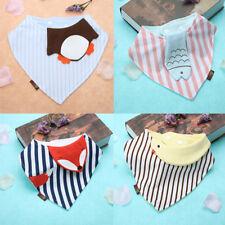 Baby Kid Boy Girl Cotton Cartoon Animal Print Towel Toddler Triangle Burp Cloth'