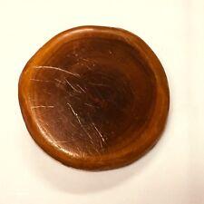 Vintage Wood Belt Buckle 2 1/2 in Diameter Rustic Natural Color