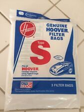 New HOOVER 3 Pk Vacuum Bag Type S Fits Futura Spectrum Power Max Models 4010064S