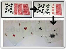 10'S REVERSE & TEN'S TO ACES 4 GAFFED CARD MAGIC TRICK 10 ACE GAFF GIMMICK NEW