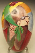 Easter Egg Lady Bunny 5 ¼� Midwest Importers of Cannon Falls West German 1985