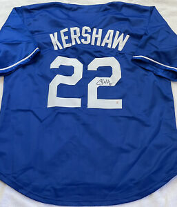 Clayton Kershaw Signed Los Angeles Dodgers Baseball Jersey with COA