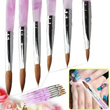 6pcs 3D Acrylic Drawing Large Nail Art Manicure Brushes for Painting Mold DIY