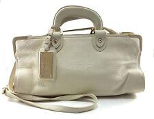 BALLY White Leather Shoulder Handbag