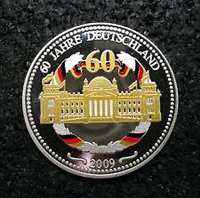 Medaille 60 Jahre Deutschland 2009 / Silber / 36 mm 14,77 g (ut20n717)