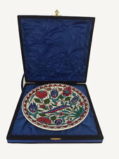 """Turkish Hand Made Ceramic Pottery Plate with Case 25cm, 10"""""""