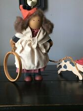 1987 Lizzie High Doll Johanna Valentine With Hoop And Dog, Barney Hand Crafted