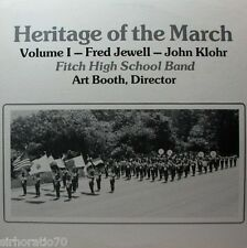 HERITAGE OF THE MARCH Volume 1 LP Fitch / Groton High School - Jewell / Llohr