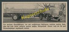 NAG Universal-Kraftschlepper Zugmaschine Cabrio Lkw Transport Auto Berlin 1928