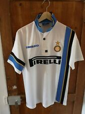 MAILLOT DE FOOTBALL INTER-MILAN 96/97 WHITE UMBRO PIRELLI SIZE M VINTAGE NO-NAME