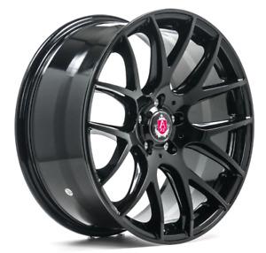 """18"""" AXE CS Lite Alloy Wheels Black 5x108 fits Ford Focus Mk2 Mk3 Mk4 inc ST RS"""