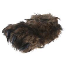 Big Foot Monster Kralle Tier Hausschuhe Pantoffel Schlappen Herren Braun 36-47