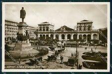 Napoli città Piazza Stazione Garibaldi Foto cartolina QT5010