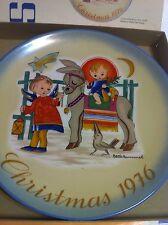 "Schmid Berta Hummel 1976 Christmas Plate:""Sacred Journey"" + free Christmas Cd"