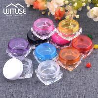 Mini 3/5g Cosmetic Jars Tubs Pots Makeup Tool Plastic Sample Containers Nail Art