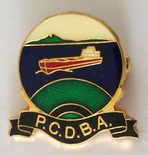 Port Curtis District Bowling Club Badge Pin Vintage Lawn Bowls Ship Boat (L25)