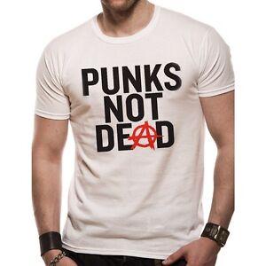 Herren Bandshirt Honeycomb Punks not Dead T-Shirt Weiß White