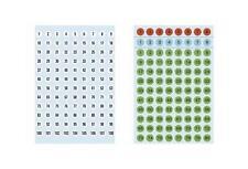 HERMA Zahlen-Etiketten 1-540, Durchmesser: 8 mm, Papier