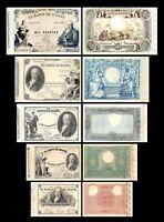 2x 25, 50, 100, 500, 1000 Pesetas - Edición 1886 Goya - Reproducción - 38
