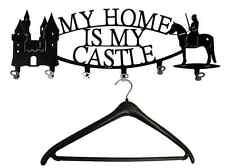 Wandgarderobe MY HOME IS MY CASTLE - Garderobe Ritter Burg, Flurgarderobe Metall