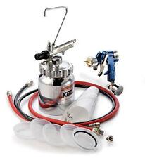 DeVilbiss FLG675 1.3 & 1.8mm  Pressure Feed Gun FLG4  w Pressure Cup Kit