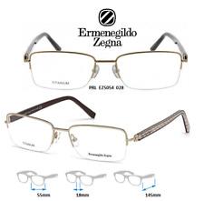 Ermenegildo Zegna EZ5054 028 Eyeglass Frames Titanium Semi Rimless NEW