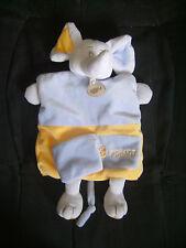 Doudou marionnette éléphant Baby Nat' en velours 26 cm