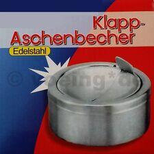Klapp-Aschenbecher aus Edelstahl Windaschenbecher Windascher Ascher windsicher