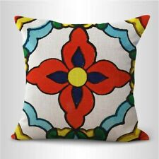decorative bed pillow case Mexican  00004000 talavera Spainish cushion cover